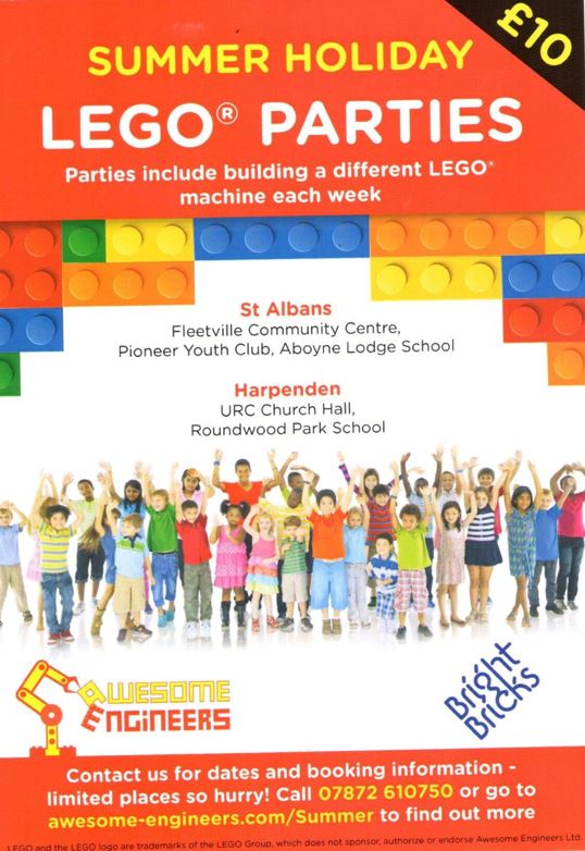 LEGO ® Parties Are Coming To The Pioneer Club This Summer!